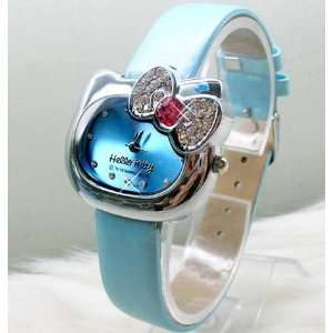 Beautiful Blue Diamond Crystal Hello Kitty Head Shape