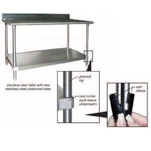 Eagle Group T2460B BS 1X Work Table with 4.5 Inch Backsplash Stainless