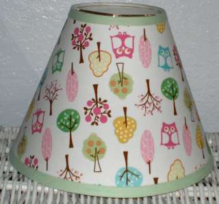BROOKE Trees and Owl Lampshade mw Pottery Barn Kids Girls ~ Any Color