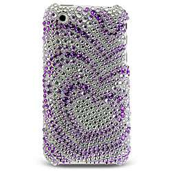 Purple Heart Rhinestone Case for iPhone 3G/ 3GS