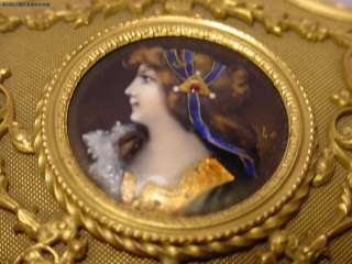 Beautiful Antique Art Nouveau Enamel Jewelry Box