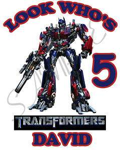 Personalized Transformers Birthday T Shirt Gift