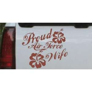 Air Force Wife Hibiscus Flowers Military Car Window Wall Laptop Decal