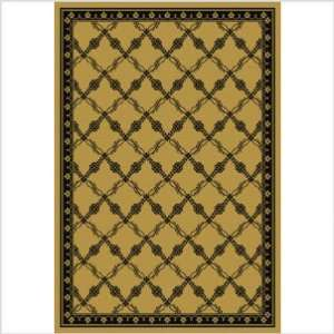Curio Lattice Black Indoor/Outdoor Rug   8 Round Size 8