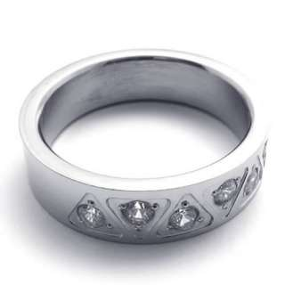 Mens Womens Silver Tone Stainless Steel Ring US Size 8,9,10,11,12