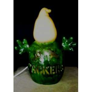 Green Bay Packers Ceramic Ghost Lights Up