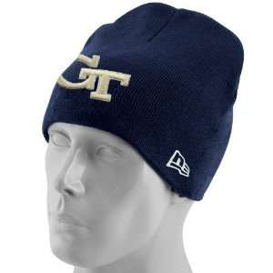 Jackets Youth Navy Blue Big One Knit Beanie  Sports