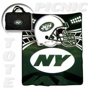 New York Jets Tote A Long NFL Picnic Blanket by Northwest (50x60