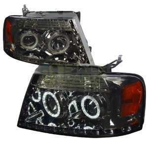 04 08 Ford F150 R8 Style Projector Headlight Smoke