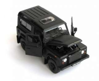 New 124 LAND ROVER DEFENDER Alloy Diecast Model Car Black B1597
