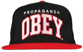 Clothing Throwback Snapback Hat   Black/Red