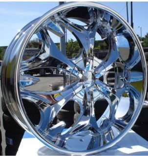 Wheel + Tire Packages 22 inch Triple chrome rims B3