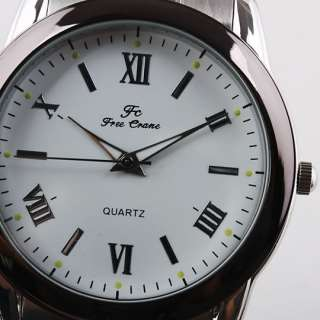 Round White Japan Quartz Men Stainless Steel Watch NB80