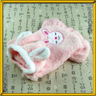 Dog & Cat Clothes Faux Fur Dresses,Bunny Ears Hoodie Costume Skirts