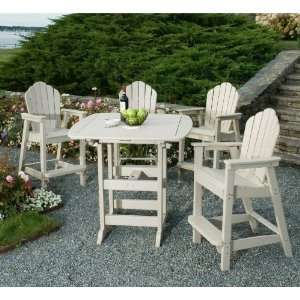 Seaside Casual 5 Piece Classic Bar Table Set