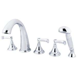 French Lever Handles and Hand Shower   5 PIece Finish Polished Chrome