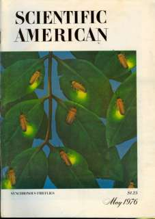 1976 Scientific American Magazine Synchronous Firefly