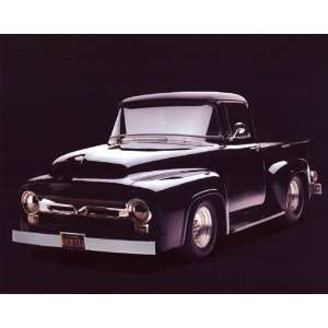 1956 Black Ford F100 Pickup Truck   Photography Poster
