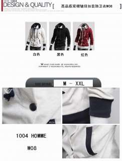 2011 New Mens Slim Fit Sexy Zip Up Stylish Jacket Coat