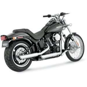 Vance & Hines 3in Round Twin Slash Slip On Mufflers