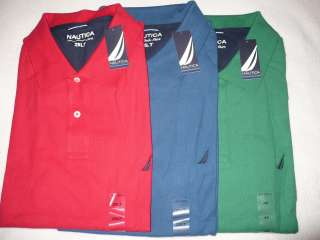 NEW NWT NAUTICA MENS BIG & TALL POLO SHIRT SIZE 2X 3X 4X 2XB 3XB 4XB