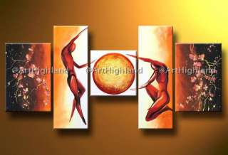 Modern Abstract Oil Painting Canvas Wall Art Feng Shui