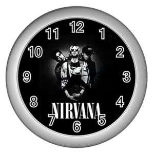 Kurt Cobain Nirvana Wall Clock Silver GIFT DECOR COLLE