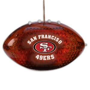 4 NFL San Francisco 49ers LED Light Up Football Christmas
