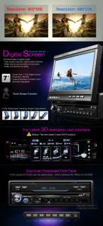 D1303 1Din 7 Detachable In Dash Car DVD Radio Stereo Player iPod/USB