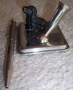 Antique Metal Pen Holder COCKER SPANIEL DOG FIGURINE