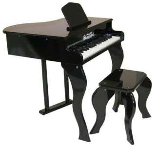 New Schoenhut Kids 37 Key Elite Baby Grand Piano Black