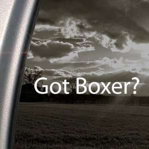 Got Boxer? Decal Dog AKC Car Truck Window Sticker