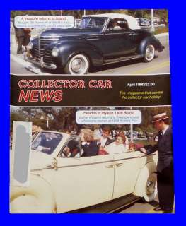 CAR NEWS APRIL 1990,1939 PLYMOUTH BUICK,1955 CORVETTE,HOT ROD MAGAZINE