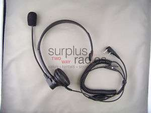 HEADSET FOR KENWOOD 2 PIN RADIOS TK3160 TK372 TK2160