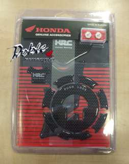 New Carbon look Honda HRC Tank Pad & Fuel Lid Cover set