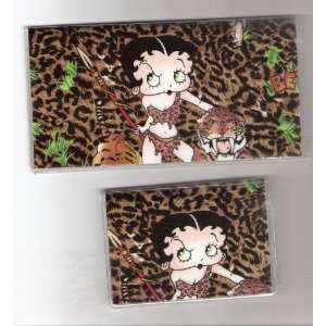 Checkbook Cover Debit Set Made with Betty Boop Jungle Girl