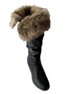 New Womens Winter Flat Faux Fur Boots Sizes 3 8