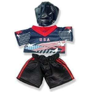 American Hockey Outfit Teddy Bear Clothes Fit 14   18