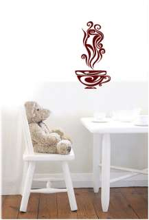 COFFEE CUP   Wall Decals Stickers Murals Vinyl Art Cafe