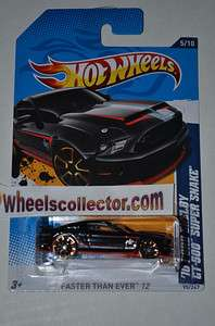 10 FORD Shelby GT 500 Super Snake FTE * Black * 2012 Hot Wheels * New