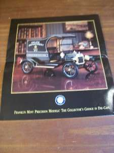Vintage Ford Model T Police Wagon Franklin Brochure