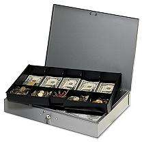 MMF Industries Extra Wide Steel Cash Box
