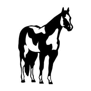 Paint Horse BLACK vinyl window decal sticker Office