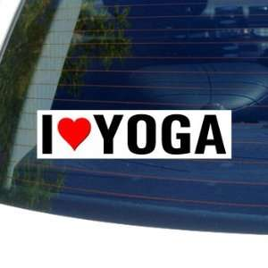 I Love Heart YOGA   Window Bumper Sticker Automotive