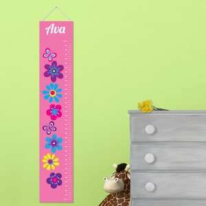 Height Chart Personalized Frilly Floral Height Chart