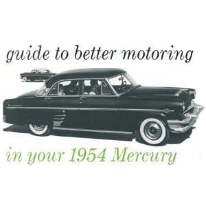 1954 MERCURY Full Line Owners Manual User Guide Automotive