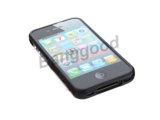 For iPhone 4 4S TPU Bumper Frame Silicone Skin Case With Side Button