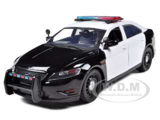 model of ford police car interceptor concept unmarked black white