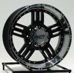 20 inch Black Wheels/Rims Chevy HD Dodge Ram H2 8 Lug
