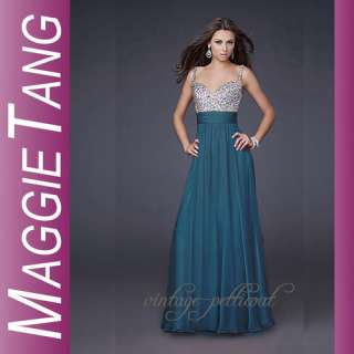 HOT SOLD ELEGANT Long Chiffon Evening Dresses/Formal/Prom Gown Size 6